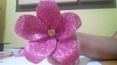 imagenes de flores grandes de foami broche o prendedor para el pelo con flores de foami youtube