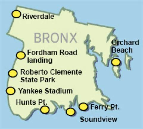 Floats ferry plan to service 8 boro sites including yankee stadium