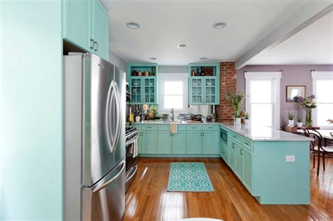 go in house blue kitchen walls cool black l shape granite counter top kitchen cabinet to go in