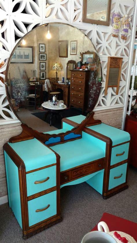 vintage  waterfall vanity furniture facelift