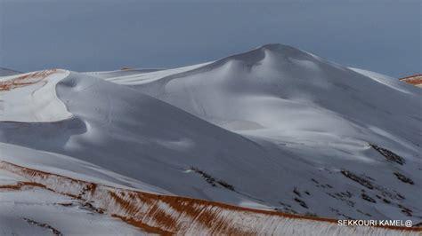 sahara snowfall rare snow covers the sahara desert in algeria second