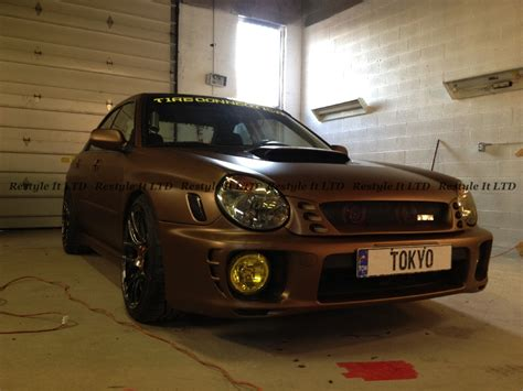 brown subaru metallic matte brown subaru impreza vinyl car wrap car