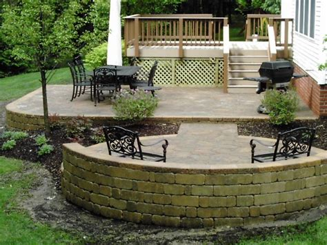 Wood deck design ideas wood deck with patio stone interior designs