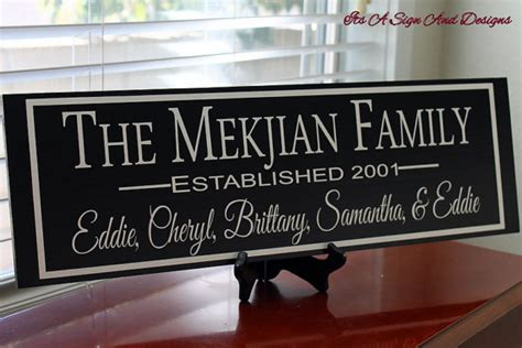 Personalized Home Decor Gifts by Custom Family Sign Personalized Anniversary Gift 5th