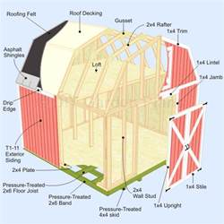 gambrel roof angles 12x16 gambrel shed plans exploded