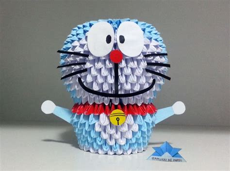 Doraemon 3d Origami - 3d and origami on