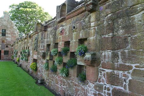 the of the garden wall garden wall photo picture image edzell castle