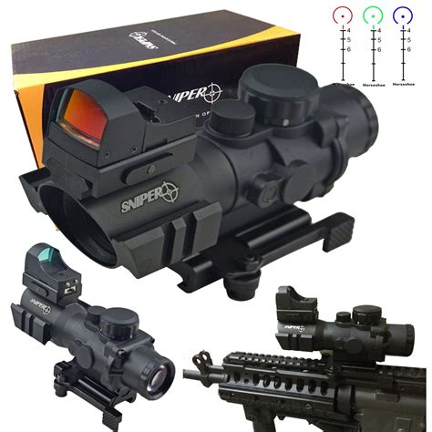 tactical brand ledsniper 174 2in1 brand sniper tactical rifle scope 4x32