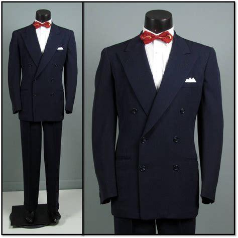vintage mens suit 1940s 1950s penney s town clad classic