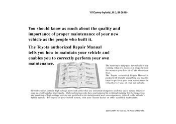 hayes auto repair manual 2007 toyota camry hybrid instrument cluster 2007 toyota camry hybrid repair manual information pdf 2 pages