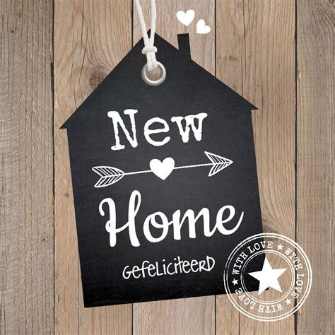 gefeliciteerd nieuwe woning felicitatie nieuwe woning hout label kaartje2go