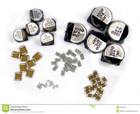 surface mounted capacitors smd capacitors stock photo image 9377070