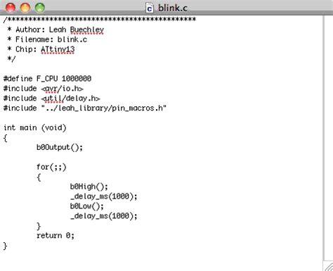 pattern code in c language avr programming tutorial part 2 writing programs