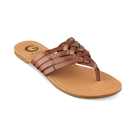 sandals guess g by guess womens loann sandals in brown luggage