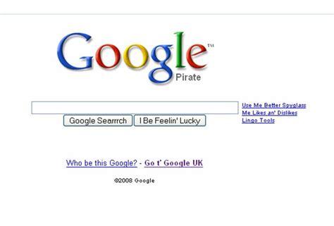 theme like google google pirate theme for international talk like a pirate