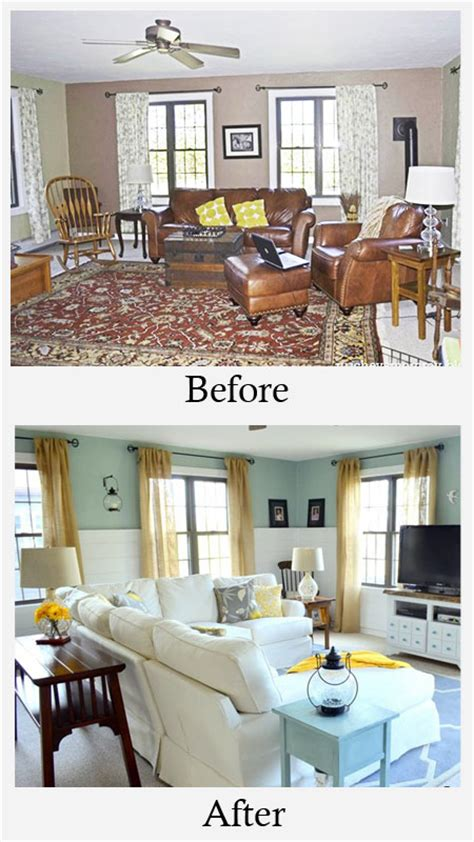 Room Makeover Before And After | living room makeovers before and after photos