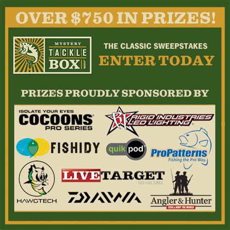Sweepstakes Result Today - mystery tackle box classic sweepstakes enter today