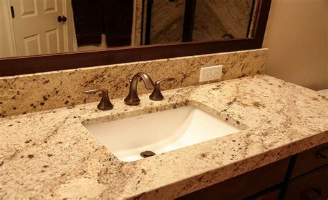 Formica Laminate Kitchen Cabinets by Sienna Beige Granite With Miter Apron Edge Countertops