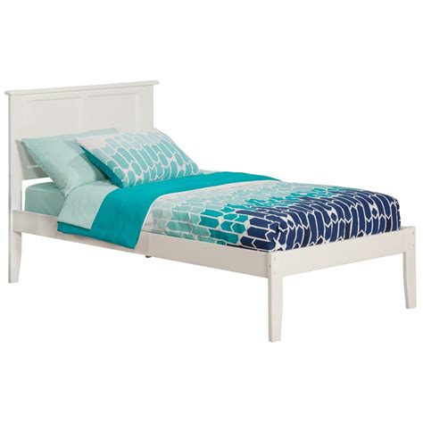 traditional beds madison traditional bed with open footrails white