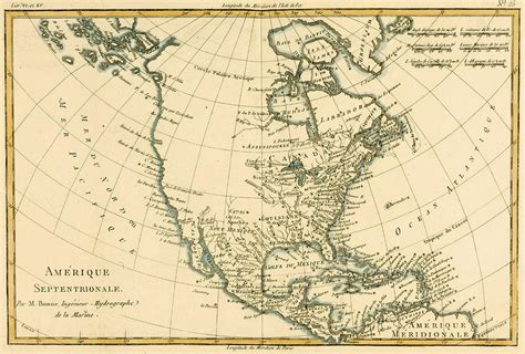 america map dwg antique map of america drawing by guillaume raynal