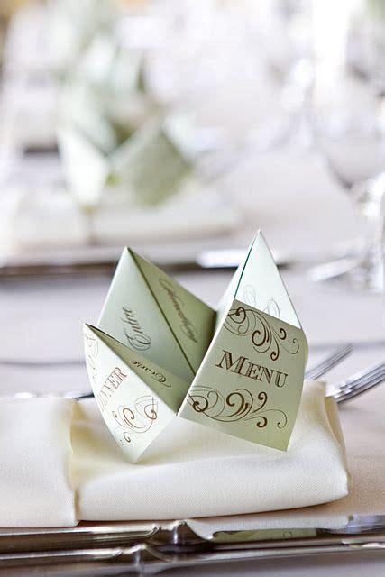 Origami Restaurant Menu - inspiration d 233 co un mariage origami