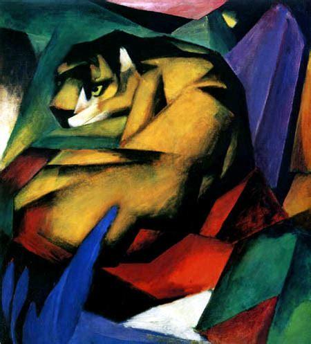 libro kubismus pinturas de vanguardias el tigre de franz marc