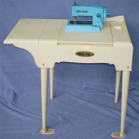 Table For Sewing Machine by Marx Toys Sew Big Vintage Portable Sewing