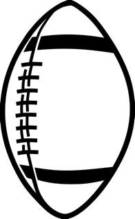 Football Drawing Template by Football Outline Template Clipart Best