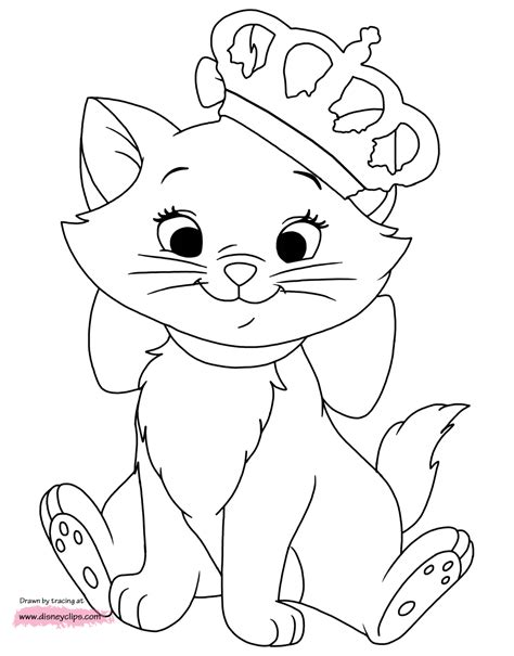 disney aristocats marie coloring pages coloring pages