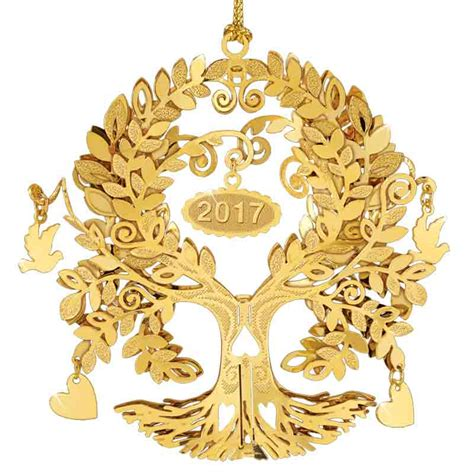 the 2017 danbury mint annual gold christmas ornament the
