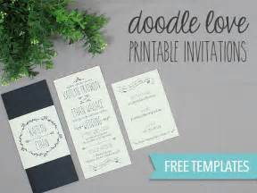diy tutorial free printable doodle wedding invitation set boho weddings for the boho luxe