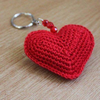 crochet heart pattern keychain valentine heart sachet crochet pattern