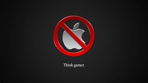 Wallpaper Anti Apple | apple inc logos mac os x simple background anti apple