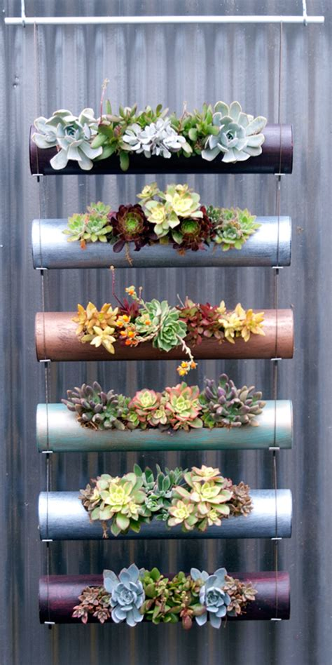 cool planters cool indoor outdoor modular cylinder planters urban gardens