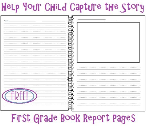 Book Report Sheet For 1st Grade by Living And Learning At Home Help Your Child Capture The Story Grade Book Report Pages