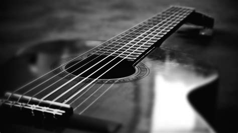 guitar wallpaper black and white hd acoustic guitar wallpapers wallpaper cave