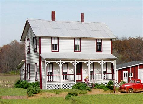 two story farmhouse american model builders ho scale two story farm house 152 140 ebay