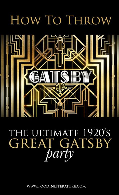 literary themes great gatsby throw the ultimate 1920 s great gatsby party we ve done