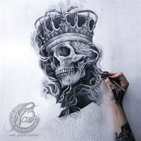 skull with crown tattoo designs it s so awesome pinteres