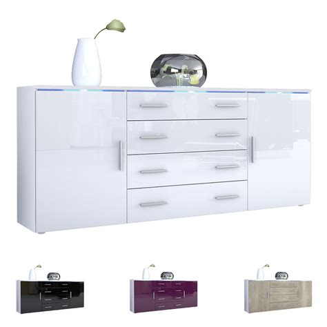 New High Gloss White Modern Sideboard Buffet Cabinet Modern Sideboard Buffet Server Storage Cabinet Chest Faro