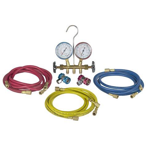 Brass Manifold Set robinair r12 r134a brass manifold set 48134b