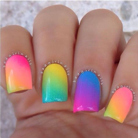 colorful nail colorful rainbow nails pictures photos and images for