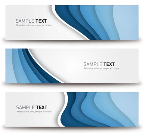 design banner elegant blue banners modern elegant design vector free download
