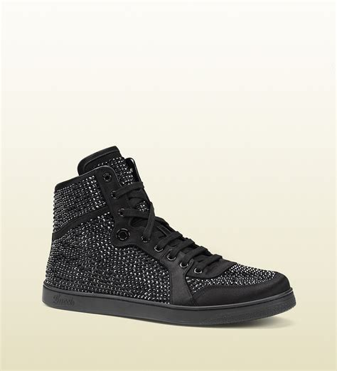 Sneaker Boots Stud lyst gucci high top sneaker with studs in black for