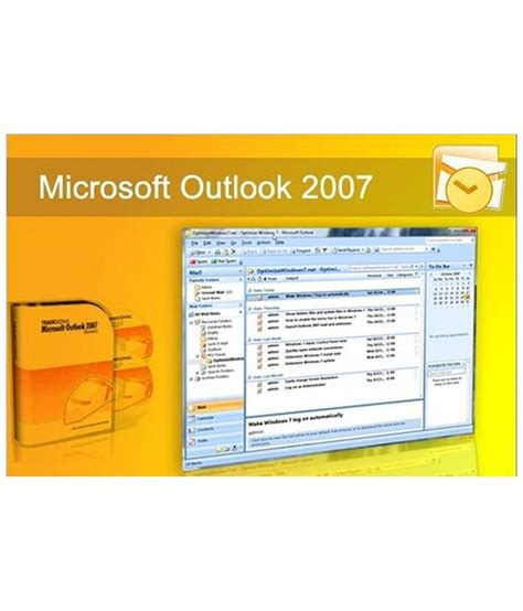 microsoft outlook 2007 microsoft outlook 2007 online course by e careers buy