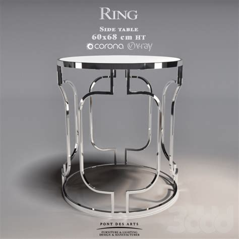ring c side table 3d модели столы ring side table