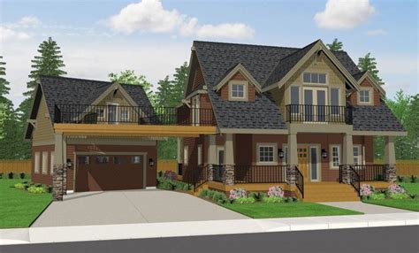 craftsman style home turn the garage to the side covered walkway is a deck too garage additions
