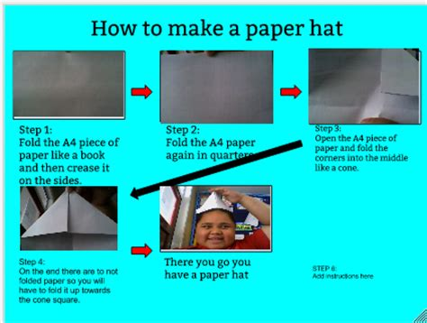How To Make A Paper Hat - how to make a paper hat