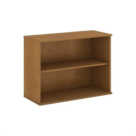 2 Shelf Bookcase Bush Business 30h 2 Shelf Bookcase In Cherry