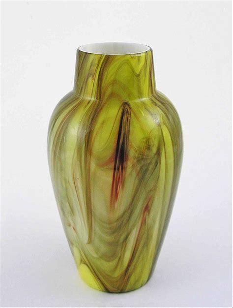 Green Onyx Vase by Bohemian Marmoriertes Green Onyx Glass Vase 8 Quot